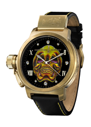 Gold Death Skull Christian Audigier Watch