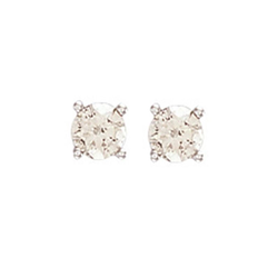 0.75Ct Hsi Diamond Studs 18ct White