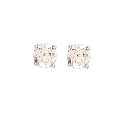 1.00Ct Hsi Diamond Studs 18ct White
