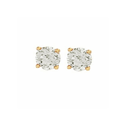 0.75Ct Hsi Diamond Studs 18ct Yellow