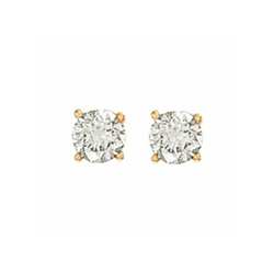 1.00Ct Hsi Diamond Studs 18ct Yellow
