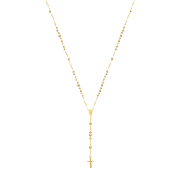 9ct Yellow Gold Rosary Bead Chain with Madonna