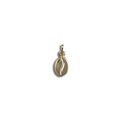 9ct Yellow Gold Coffee Bean Hollow Charm Pendant
