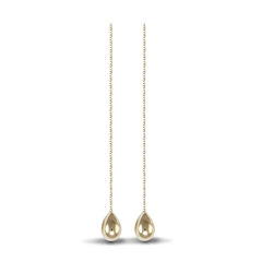 9ct Yellow Gold Drop Pull Through Earrings