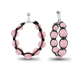Kamara Pink 30mm Hoop Earrings