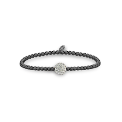 Black Ball Bracelet 1 Crystal Bal