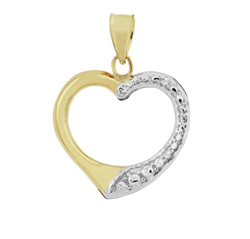 9ct Yellow Gold Open Heart Pendant