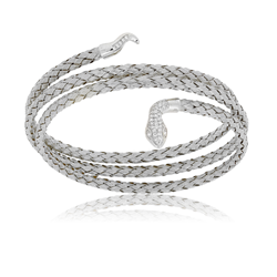 Cz Snake Triple Wrap Bangle