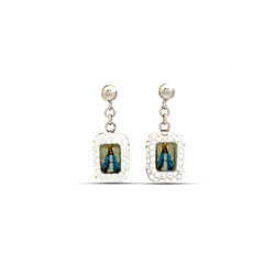 Virgin Mary Crystal Earrings