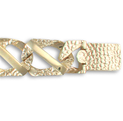 9ct Yellow Gold Gents Cast Bracelet