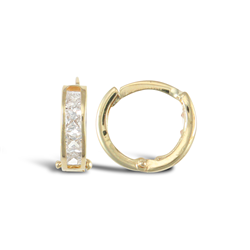 9ct Yellow Gold CZ Huggies