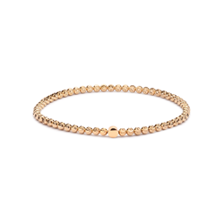 Gold Plated Faceted Ball Stretch Bracelet 3mm