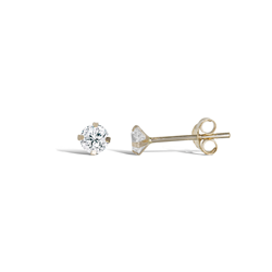 9ct Gold CZ Stud Earrings