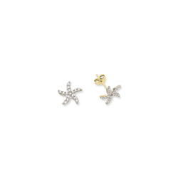 9ct Yellow Gold Kids Starfish Stud Earrings