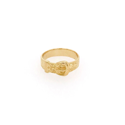 9ct Yellow Gold Kids Plain Buckle Ring A-J