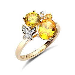 9ct Yellow Gold Cz Fancy Ring