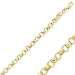9ct Yellow Gold Engraved And Plain Belcher Baby Bracelet