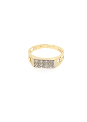 9ct Yellow Gold Kids Cz Ring