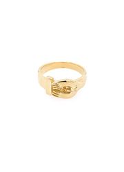 9ct Yellow Gold Kids Plain Horseshoe Ring A-J