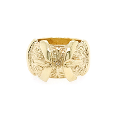 9ct Yellow Gold Heavy Kids Plain Buckle Ring