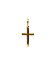 9ct Yellow Gold Plain Polished Cross Pendant