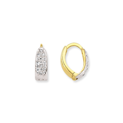 9ct Yellow Cz Huggies Earrings