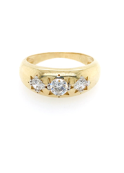9ct Yellow Gold 3 Stone Ring