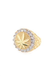 9ct Yellow Gold Cz Hash Ring