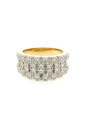 9ct Yellow Gold Cz Gents Ring
