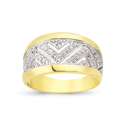 9ct Yellow Gold Cz Ladies Ring