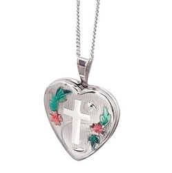 Sterling Silver 16mm Heart Locket