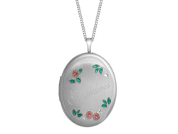 Sterling Silver Grandma 20mm Oval Locket