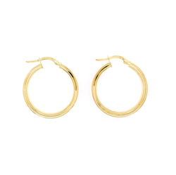 9ct Yellow Gold  Hoop Earring