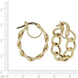 9ct Open Chain Link Hoop Earrings