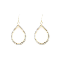 9CT GOLD GLITTER PEARDROP EARRINGS