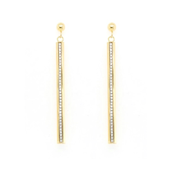 9CT GOLD GLITTER LADDER DROP EARRINGS