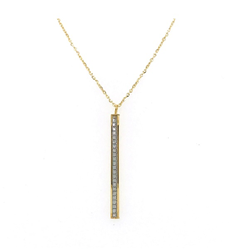 9CT Gold Glitter Ladder Pendant - 18
