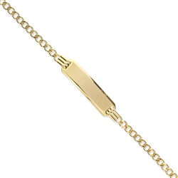 9ct Yellow Gold Kids Curb ID Bracelet