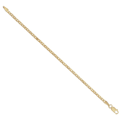 9ct Yellow Gold Kids Curb Bracelet