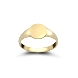 9ct Yellow Gold Plain Oval Signet Ring