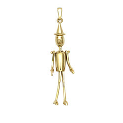 9ct Yellow Gold Puppet Movable Pendant