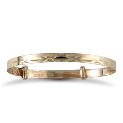Kids Diamond Cut Expandable Bangle