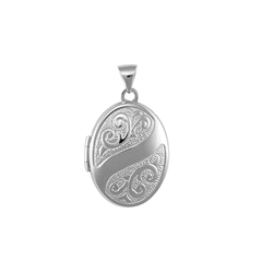9ct White Locket