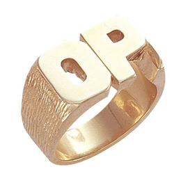 Personalised Initial Ring