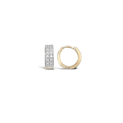 Cz Huggies Yellow Gold