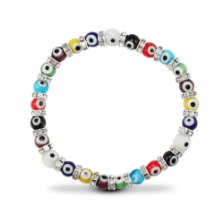 6mm MultiColour Evil Eye Bracelet