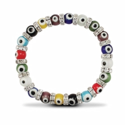 10mm MultiColour Evil Eye BT