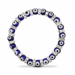 8mm Blue Evil Eye Brac