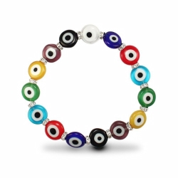 Disc Shape MultiColour Evil Eye Brac