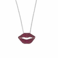 Ruby Lips Pendant And Chain
